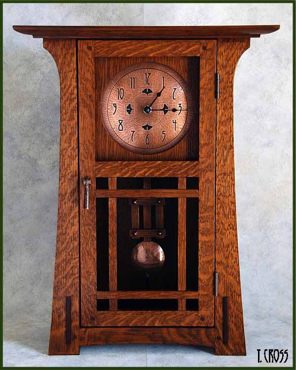 Mantel clock by terry cross nice arts and crafts mission for Arts and crafts mantle clock