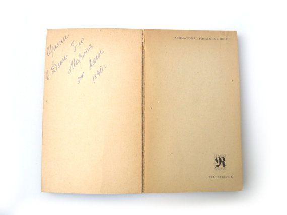 Anna Akhmatova, Collection poems in Russian and German, Vintage book poems of Anna Akhmatova, Russian poet, Russian classic poetry Vintage book poems of Anna Akhmatova. Th...