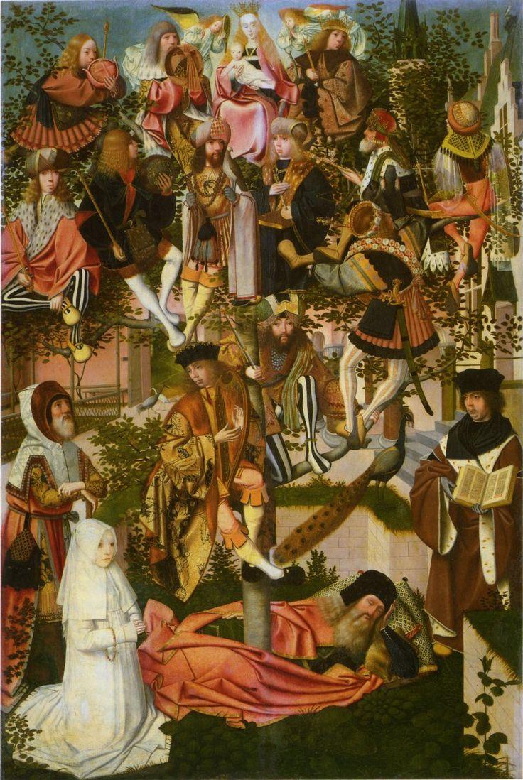 Geertgen tot Sint Jans ca. 1460/65 – ca. 1488/93     Tree of Jesse     oil on panel (89 × 59 cm) — c. 1500 Rijksmuseum, Amsterdam     Geertgen tot Sint Jans biography     This work is linked to Isaiah 11:1