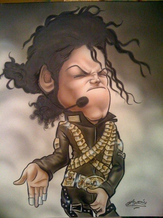 Michael Jackson FOLLOW THIS BOARD FOR GREAT CARICATURES OR ANY OF OUR OTHER CARICATURE BOARDS. WE HAVE A FEW SEPERATED BY THINGS LIKE ACTORS, MUSICIANS, POLITICS. SPORTS AND MORE...CHECK 'EM OUT!! Anthony Contorno Sr