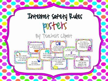 Internet Safety Rules Posters - teachers clipart ...