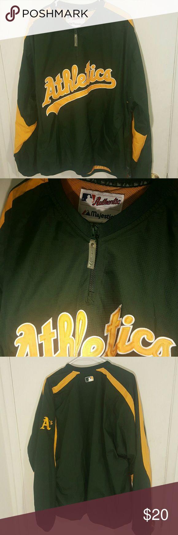 Oakland Athletics Majestic Jacket Worn 1 time Majestic Jackets & Coats
