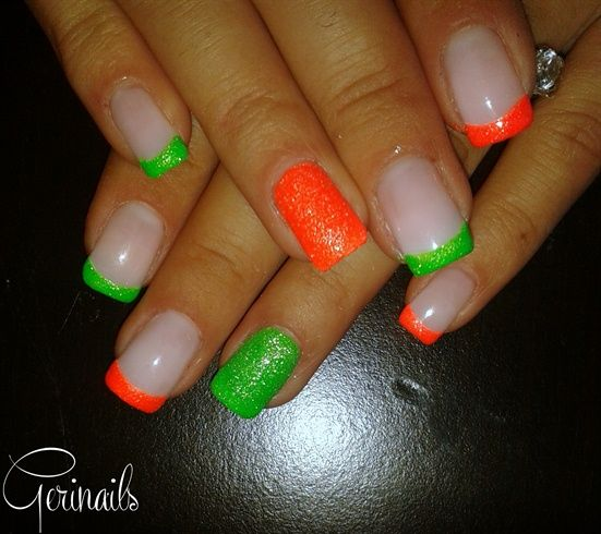 94 Best Images About Neon Nail Art On Pinterest