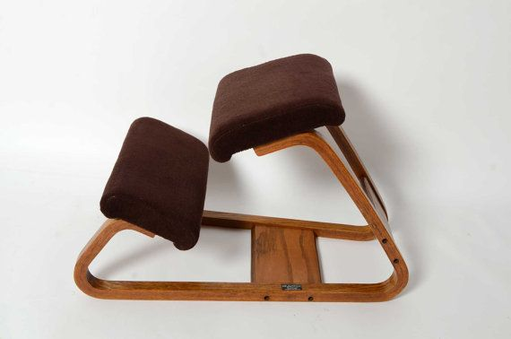 Ergonomic Kneeling Chair Mid Century Danish Modern Bent
