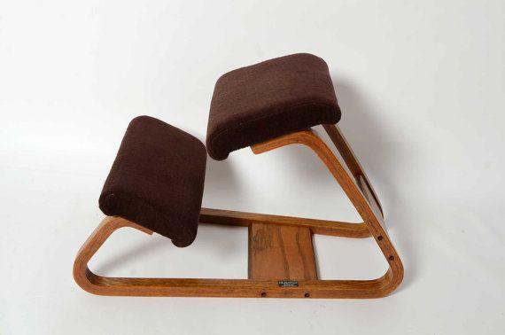 Ergonomic Kneeling Chair Mid Century Danish Modern Bent