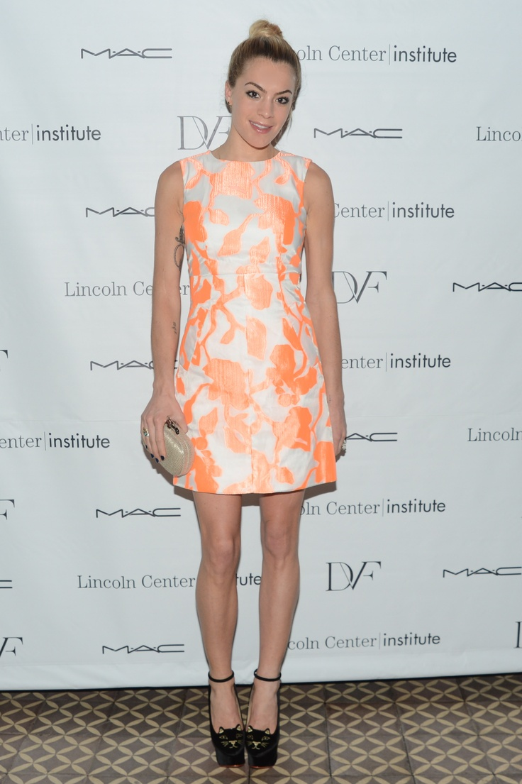 Chelsea Leyland in DVF at the Lincoln Center Institute Junior Spring Benefit