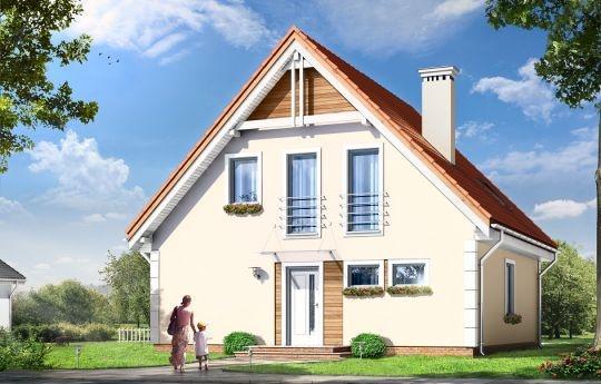 Projekt Małgosia to jednorodzinny dom parterowy z poddaszem użytkowym, dla rodziny cztero-sześcioosobowej. Dom Małgosia zbudowany został na planie kwadratu 9,5x9,5 m, przekryty dwuspadowym dachem. Istotą projektu jest prostota bryły w połączeniu z dobrze dobranymi proporcjami i ciekawym detalem. Domek zaprojektowano w dwóch technologiach - do wyboru: tradycyjnej - murowanej, lub prefabrykowanej - z elementów gotowych przywożonych z fabryki i montowanych na budowie za pomocą dźwigu.