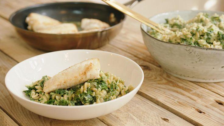 Pasta met schelvis, boerenkool en mascarpone | Dagelijkse kost