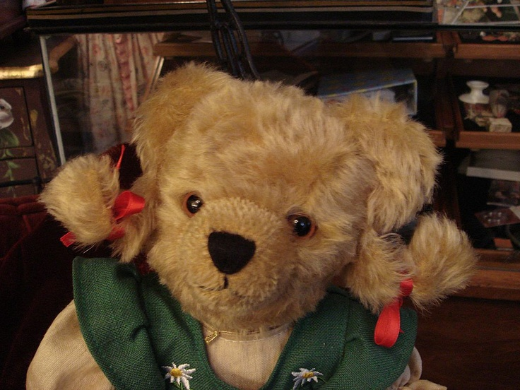 "Lovely Hermann German Teddy Bear ""HEIDI"" Lim. Ed.: Vintage Teddy, Hermann German, Teddy Bears, Bears Heidi, German Teddy, Heidi Lim, Hermann Teddy, Stuffed Animal, Kid"