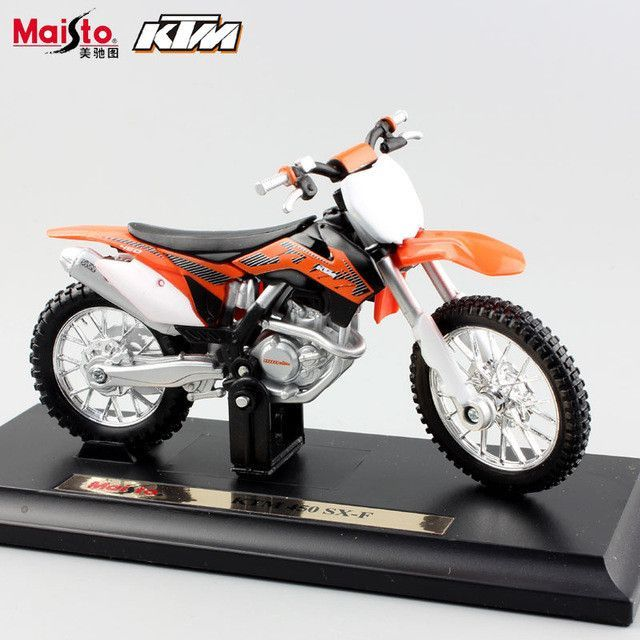 Scale Maisto Kids Motorcycle KTM 450 EXC Rally SX F Motocross Racing Bicycle Diecast Motorbike Metal Models Auto Car Toys