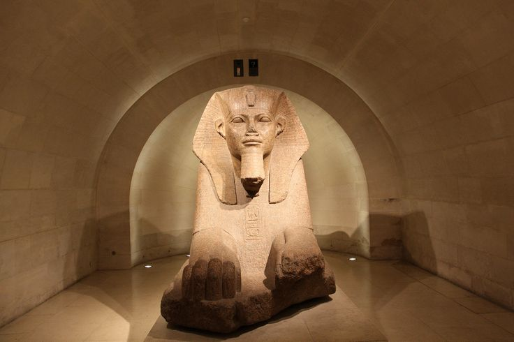 Crypt of the Sphinx (praja38) Tags: sculpture paris france face statue stone sphinx museum temple ancient europe king european display body head louvre lion egypt egyptian granite pharaoh paws fabulous creature period crypt dynasty antiquity archaeologist oldkingdom greatsphinxoftanis