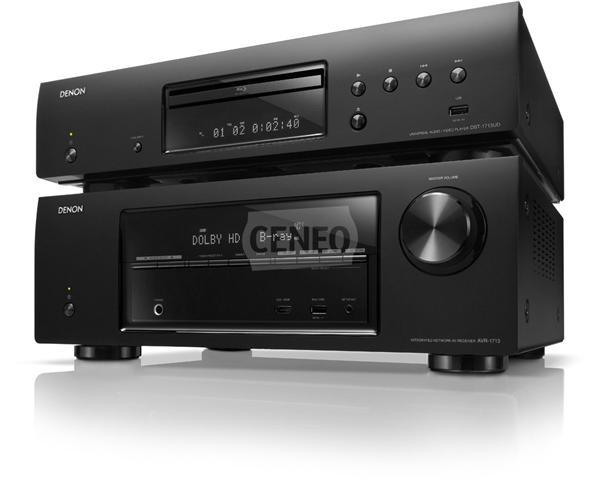 5.1-kanałowy amplituner HD-Audio AVR-1713 marki Denon wystarczy podłączyć do telewizora i odtwarzacza płyt Blu-ray obsługujących obraz trójwymiarowy (3D video) aby doświadczyć ekscytujących, trójwymiarowych wrażeń kinowych z potężnym dźwiękiem surround.
