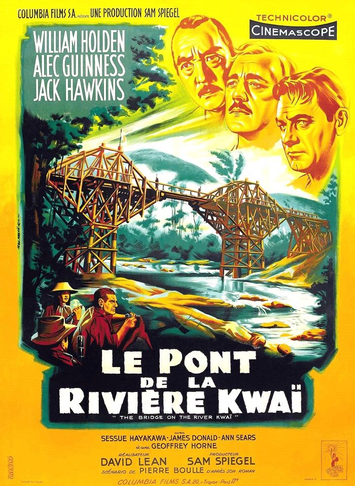 "327. ""Le pont de la rivière Kwaï"" de David Lean avec Alec Guiness, William Holden. 1958"