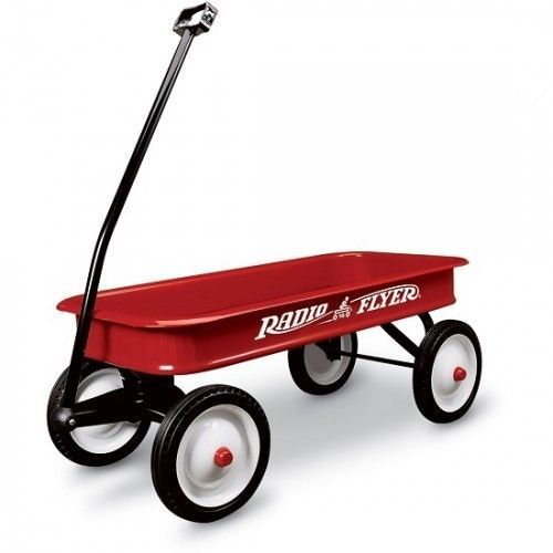 Kids Pull Wagon Ride On Red Wheels Coaster Cart Classic Radio Flyer Handle New