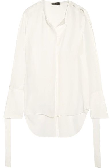Calvin Klein Collection - Laney Silk-georgette Blouse - White - IT44