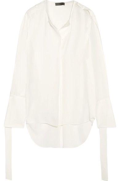 Calvin Klein Collection - Laney Silk-georgette Blouse - White - IT44