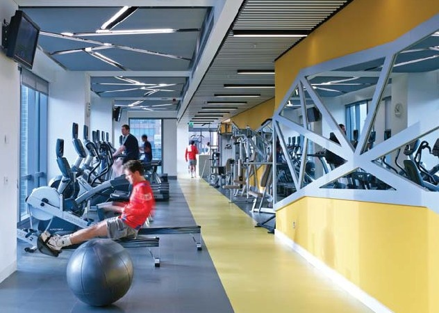 Office Gym Office Gym Gym Interior Fitness Center Design