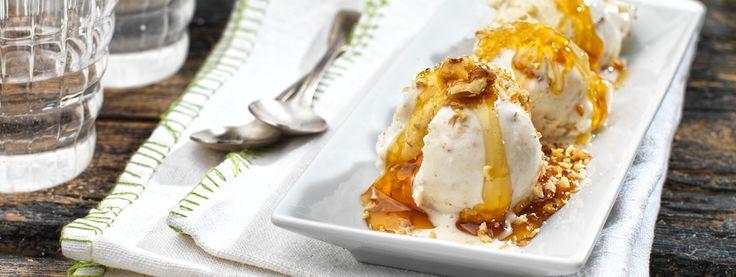 Παγωτό με γιαούρτι, μέλι και καρύδια