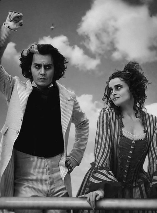 Sweeney Todd (2007) - Tim Burton  Hey there Mrs Lovett <3  I'll come down to the sea with you..  I'd know you'd Lovett <3