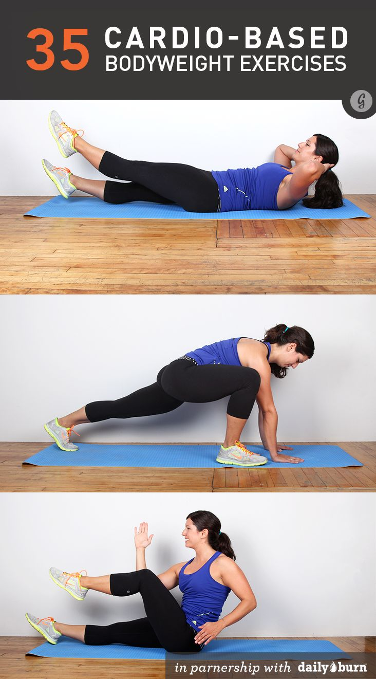 35 Cardio-Based Bodyweight Exercises #healthy #workout #cardio
