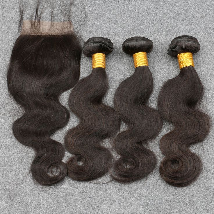 Grade 8A Unprocessed Virgin human Hair Indian Virgin Hair With Closure Free Shipping 3 Bundles With Closure Indian Body Wave