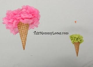 ice cream party: Ice Cream Birthday, Party'S, Birthday Shirts, Birthday Parties, Birthdays, Parties Ideas, Pom Pom, Ice Cream Cones, Cream Parties
