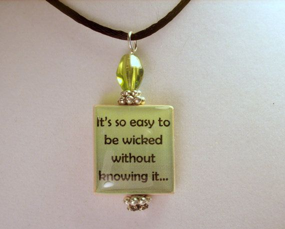 ANNE of GREEN GABLES Quote Scrabble Pendant / by pawsintime