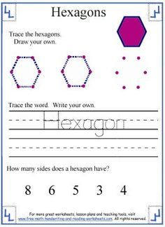 tracing the hexagon shape