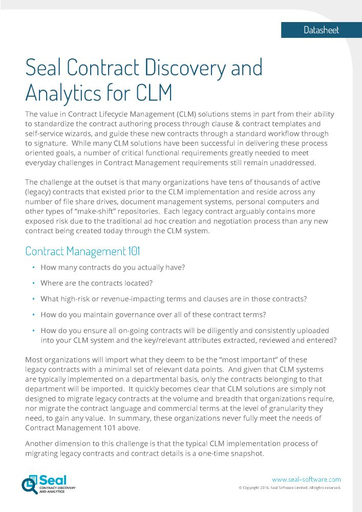 The Value In Contract Lifecycle Management Clm Solutions Stems