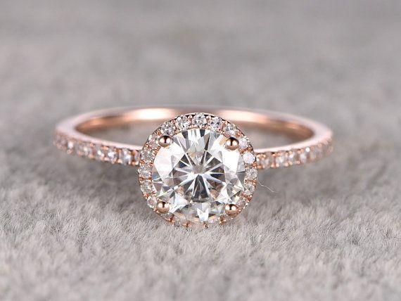 Moissanite Verlobungsring, 14K & 18K Rose/weiss/Gold erhältlich. Jeder Schmuck in meinem Shop benötigt zu bestellen. Der…