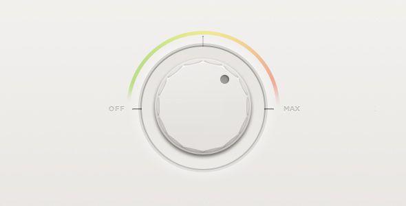 clean simple white volume knob - ui design