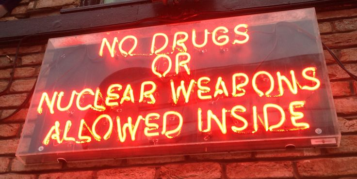 Neon Sign - Brighton Club. No drugs or nuclear weapons allowed inside...