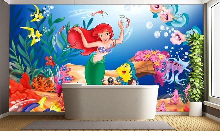 25 best ideas about little mermaid wallpaper on pinterest for Disney ariel wall mural