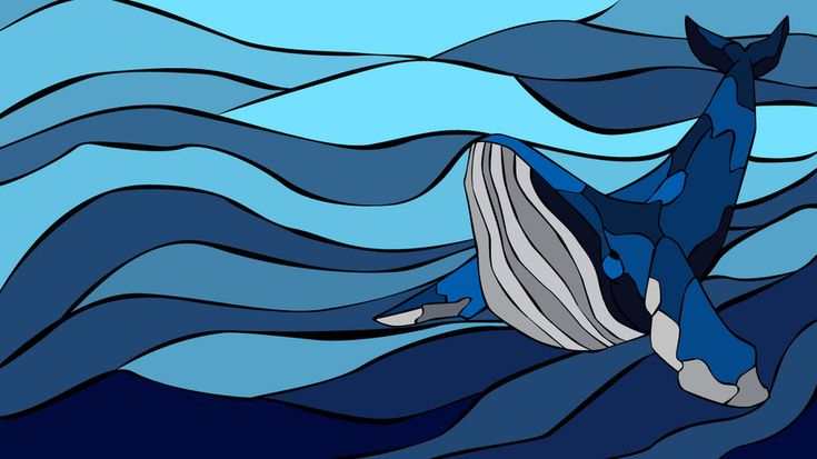 stained glass ocean   Stained Glass Whale by GuephRen on DeviantArt