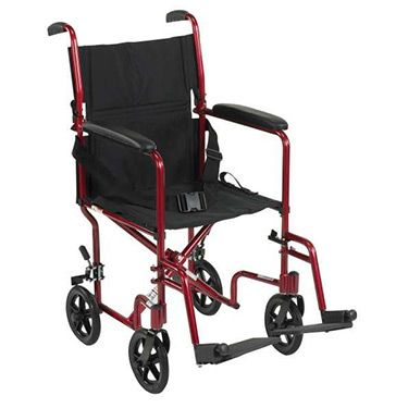 Deluxe Lightweight Transport Wheelchair by Drive - ATC17-BK