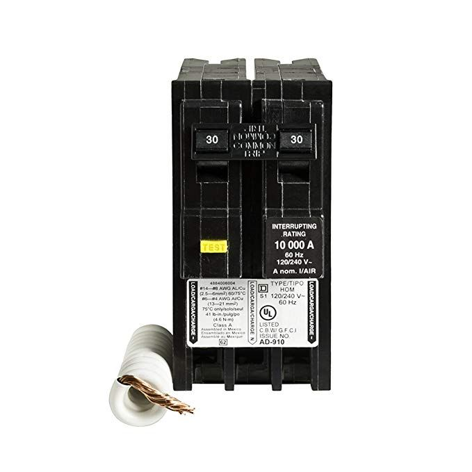 Square D By Schneider Electric Hom230gfic Homeline 30 Amp Two Pole Gfci Circuit Breaker Review Electrical Breakers Electricity Gfci
