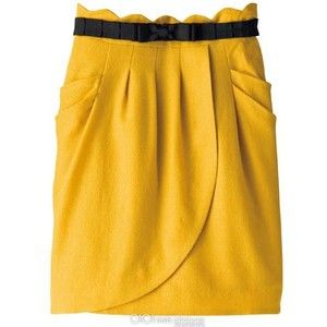 When I have mustard, I might as well hav ketchup.  Red shirt and top will bring this skirt to life!