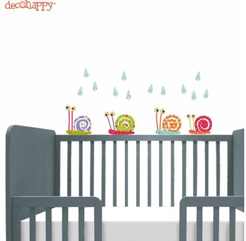 Mini vinilos de decohappy para la habitacion del beb for Vinilos pared habitacion bebe