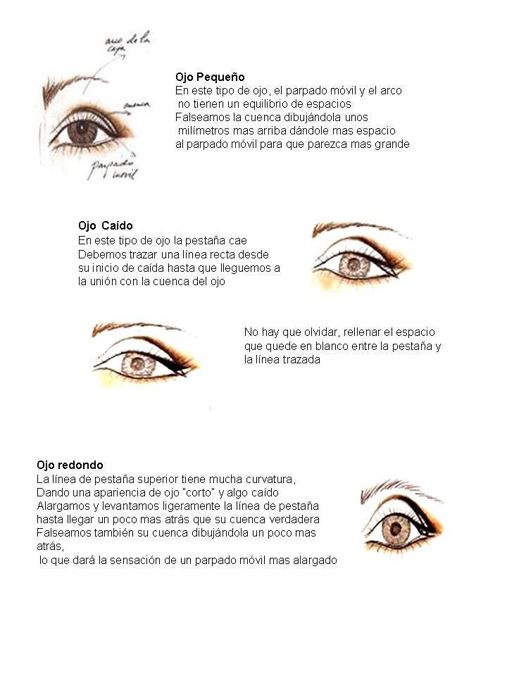 Para saber cómo maquillarse los ojos, lo mas importante es saber que tipo de ojos hay que maquillar Hay 4 grandes grupos ojo parpado móvil pequeño ojo caído ojo redondo ojo saltón