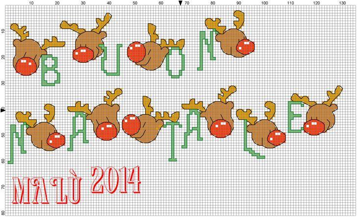 Buon Natale con musetto renne