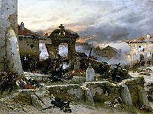 Bataille de Saint-Privat, 18 août 1870 par Alphonse de Neuville (1881)