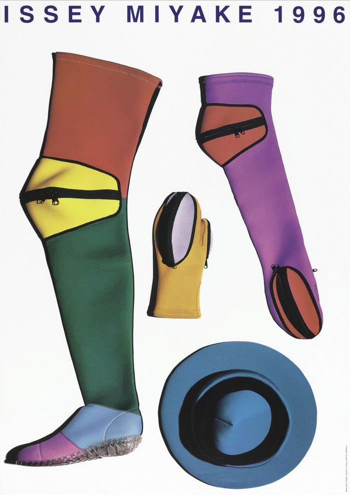 Ikko Tanaka, poster artwork for Issey Miyake, 1996. Photography: Irving Penn.