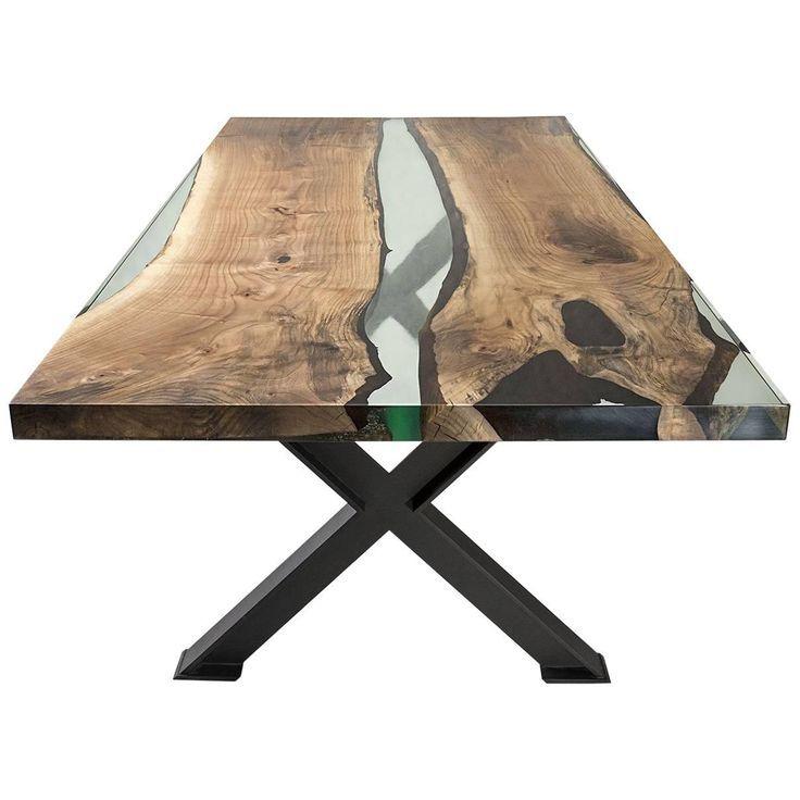 Hudson Epoxidharz Tisch Mit X Fuss Zum Verkauf Harz Mobel Diy