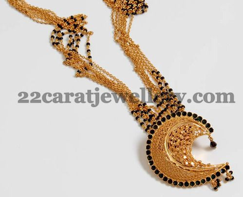 Fancy Nallapusalu Necklace | Jewellery Designs
