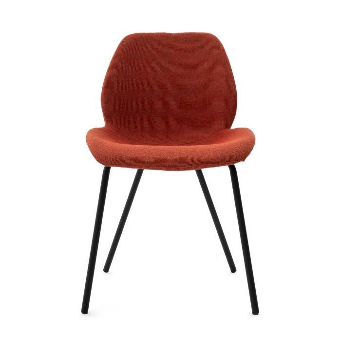 Epoch Chaise Confortable En Tissu Pour La Salle A Manger Mobilia
