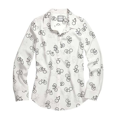 The Signature Silk Shirt in Bicycle Print