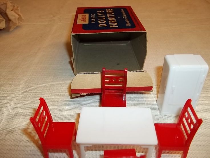 VINTAGE ALLIED PLASTIC DOLLYS FURNITURE KITCHEN SET No 300 BOXED | eBay