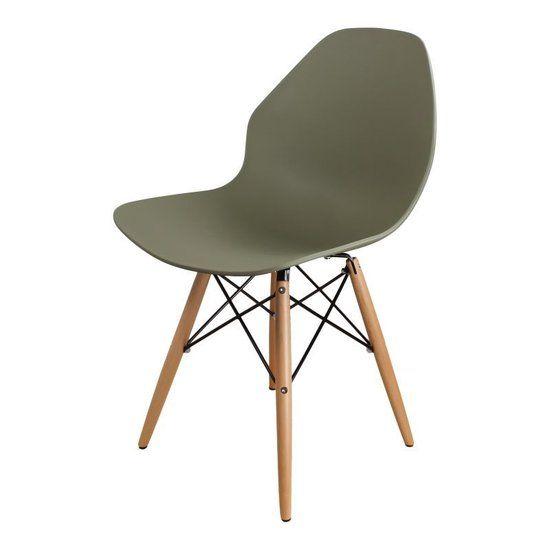 Beech flat stoel advocado groen, bol.com via DS4U, 84,95eu