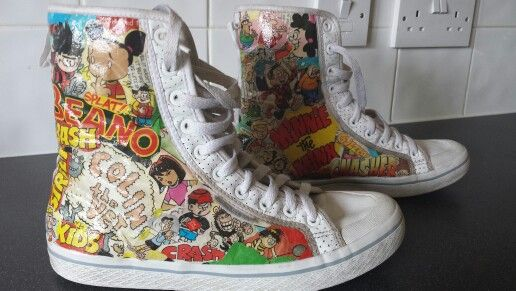 Customised Beano hi-tops