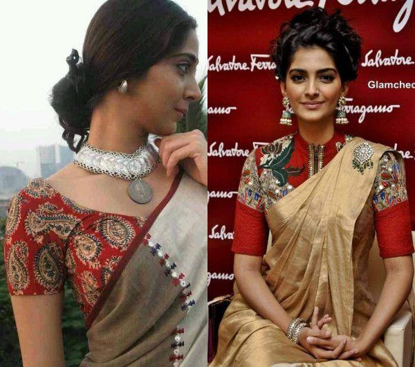 Image result for kalamkari saree.blouse